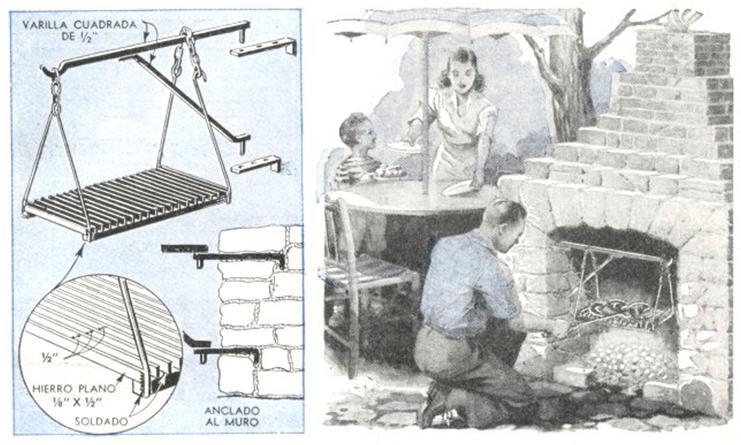 Parrilla de vaiv n transforma chimeneas en asadores raveleon - Como se hace una chimenea ...